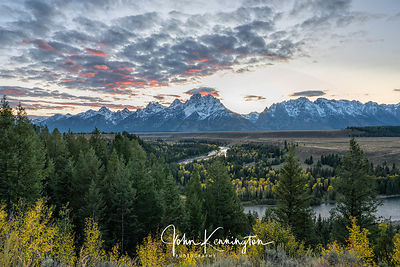 Snake River Sunset, Grand Teton National Park, Wyoming