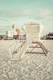 Pensacola Beach Lifeguard Tower Two Retro Photo