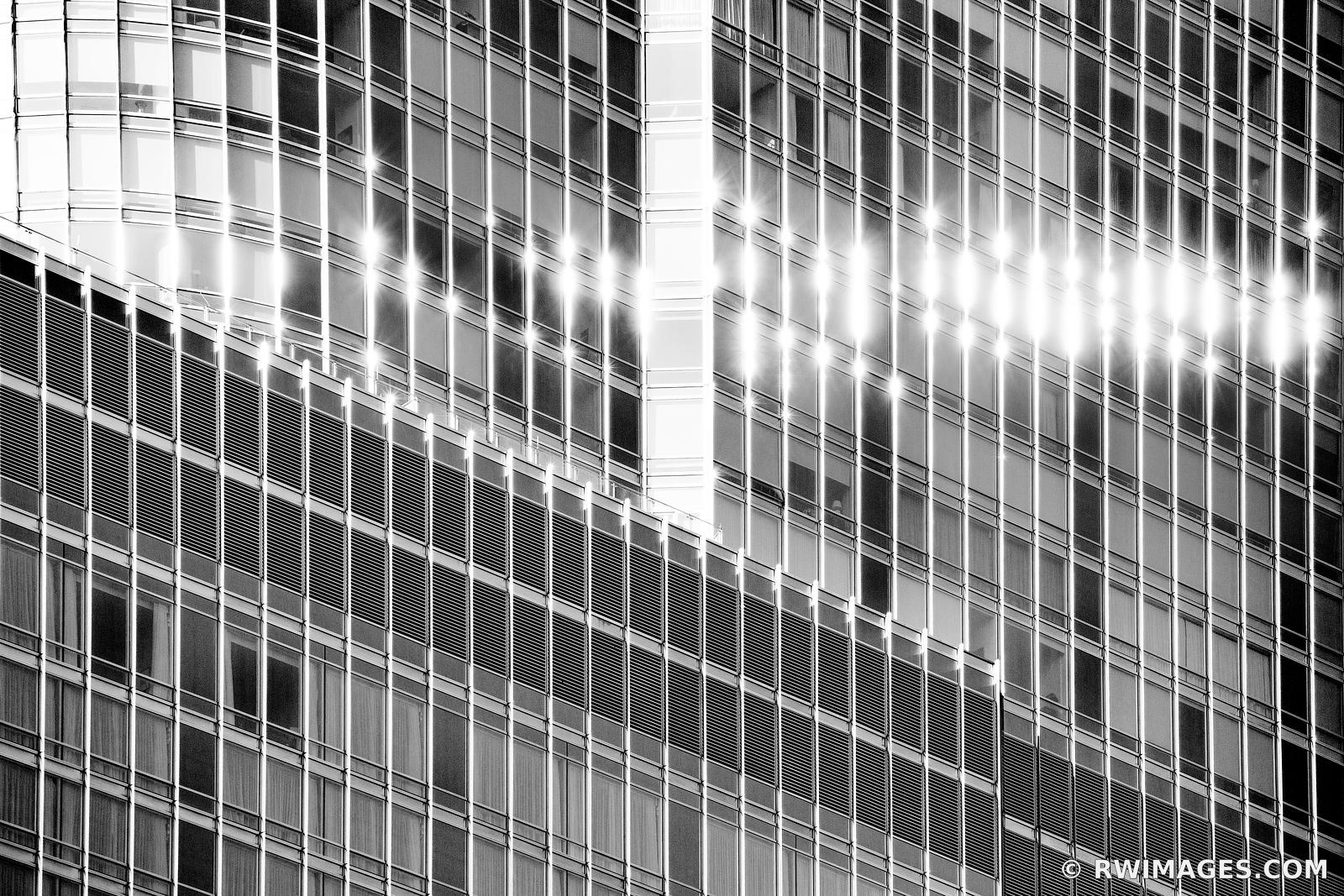 CHICAGO ARCHITECTURE ABSTRACT CHICAGO ILLINOIS BLACK AND WHITE