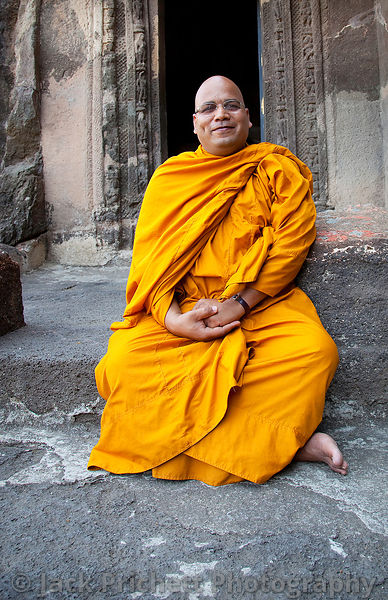 Buddhist monk at Ajanta caves