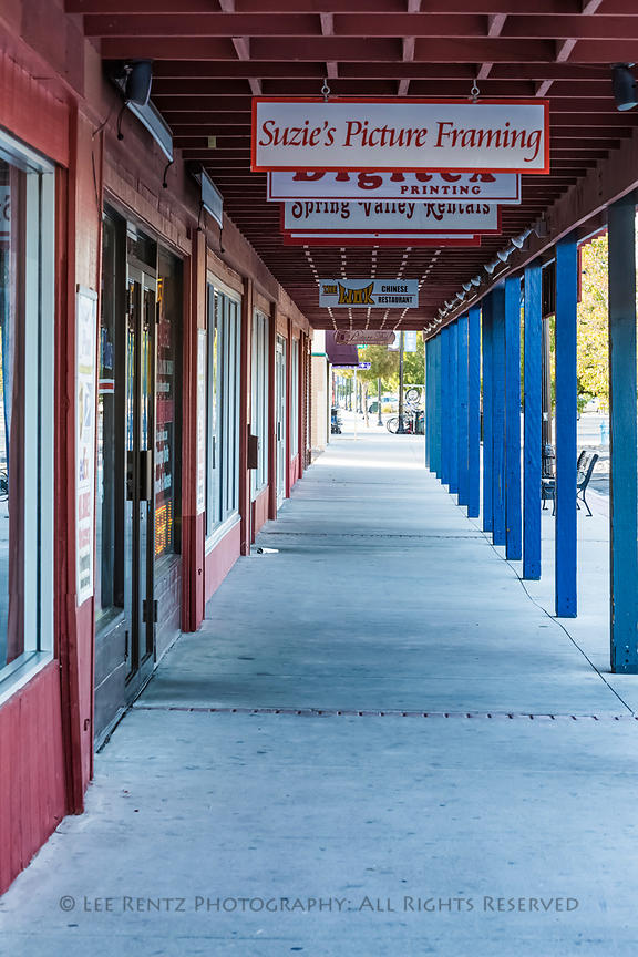 Downtown Sidewalk in Fallon, Nevada