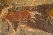 Ha Sekonyela 2 rock art site, Tsatsane bushman paintings, Lesotho