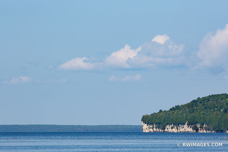 ROCK ISLAND STATE PARK FROM WASHINGTON ISLAND DOOR COUNTY WISCONSIN