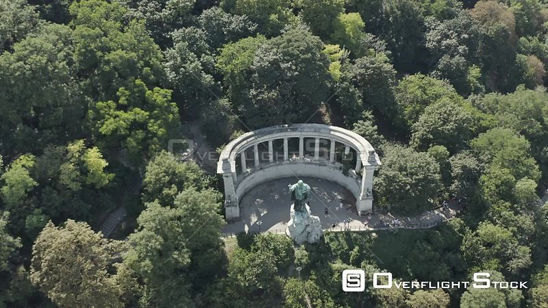 Aerial Drone Video of Budapest Monument Hungary