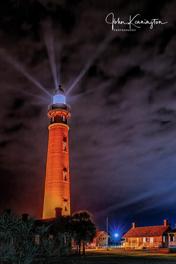 Ponce de Leon Inlet Lighthouse at Night, Ponce Inlet, Florida