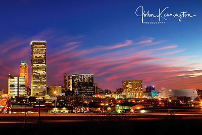 Tulsa Skyline Sunset, Oklahoma