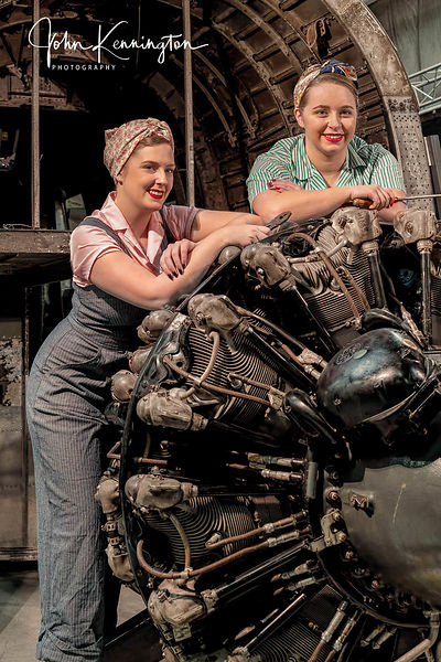 Rosie the Riveters Working at the Willow Run Bomber Plant No. 11, Belleville, Michigan