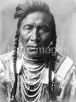 Edward S. Curtis Native American Indians - [Strike On his Head, Crow Indian, Montana ca. 1908