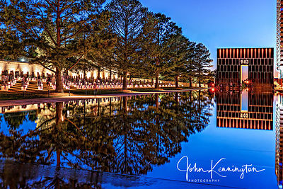 Oklahoma City National Memorial at Dusk