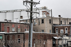 The Back Side of the Business District in Chelsea, Michigan,