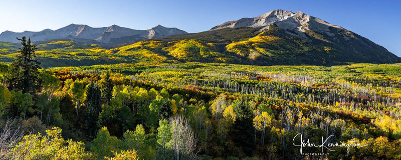 Sunrise at West Beckwith Panoramic, Gunnison National Forest, Colorado