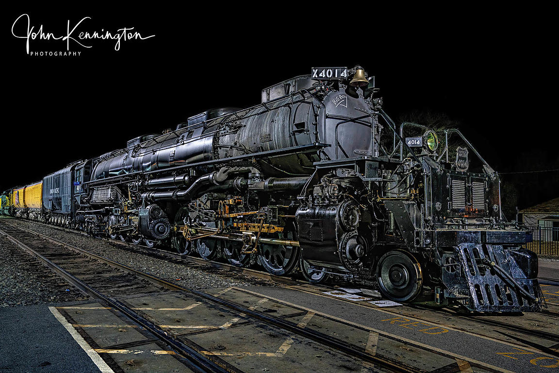 Big Boy Union Pacific #4014 at Night, Coffeyville, Kansas