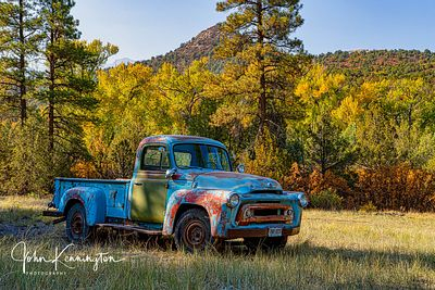 Aspens and Truck, Ridgeway, Colordo