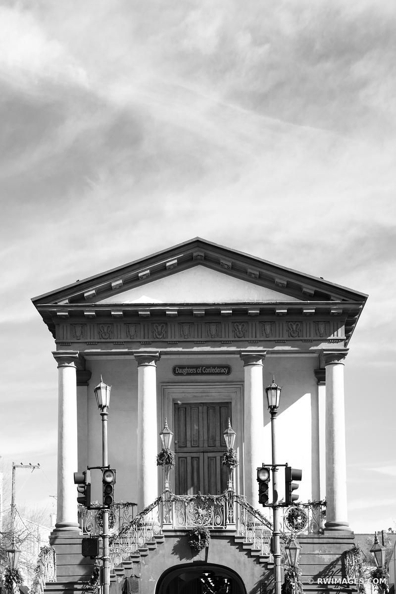 DAUGHTERS OF CONFEDERACY BUILDING CHARLESTON SOUTH CAROLINA BLACK AND WHITE