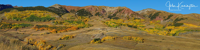 East River Valley Foothills Panoramic (4-1), Crested Butte, Colorado