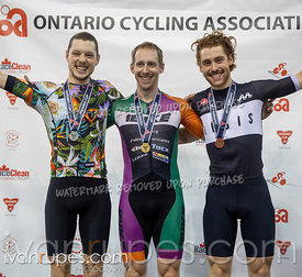 Cat C-D Keirin Podium. Track O-Cup #2, January 12, 2020