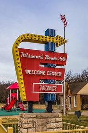 Route 66 Themed Welcome Center in Conway, Missouri