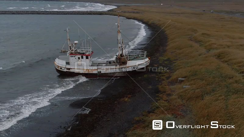 A Fishing Ship Wreck in West Iceland
