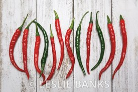 Row of Cayenne Peppers