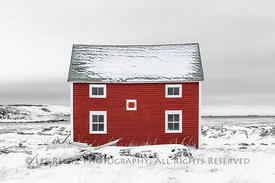 Lonely and Beautiful Building on Fogo Island, Newfoundland