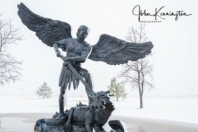 St. Michael in Blizzard No. 3, Cross Of Our Lord, Groom, Texas