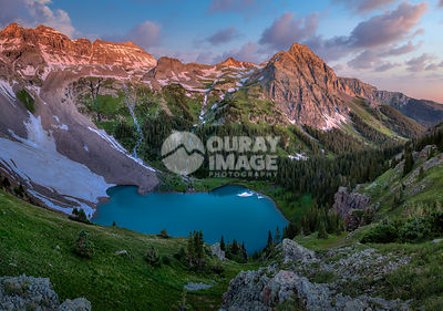 Dawn at Blue Lakes - Large Print Option