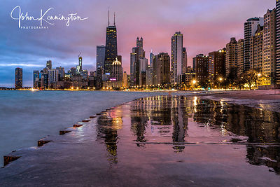 Dawn at North Avenue Beach, Chicago, Illinois