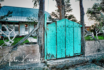 Hitching Post Ranch Gate, Kenton, Oklahoma