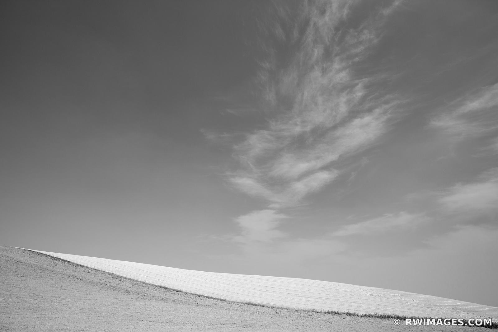 PALOUSE WASHINGTON BLACK AND WHITE LANDSCAPE