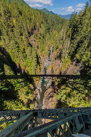 High Steel Bridge in the Olympic Mountains