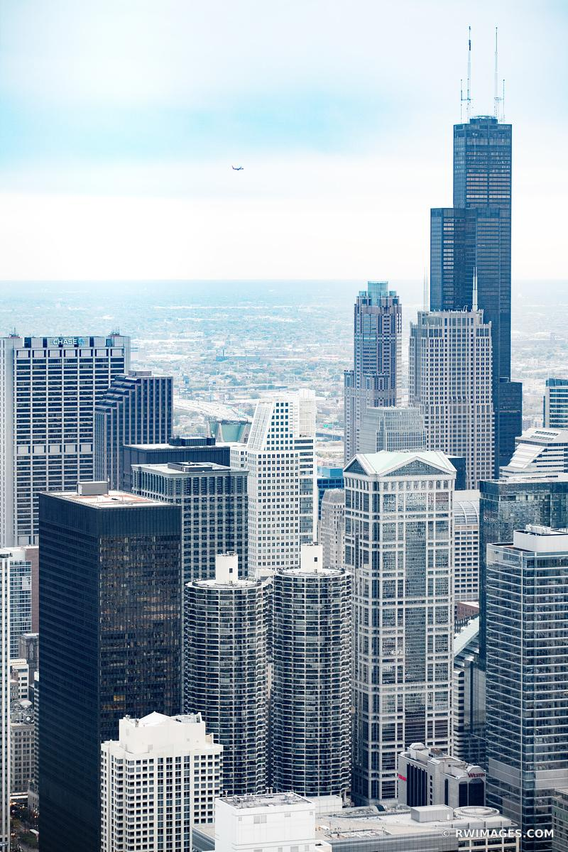 SEARS WILLIS TOWER CHICAGO DOWNTOWN AERIAL VIEW CHICAGO ILLINOIS