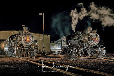 Grand Canyon Railroad Steam Engines in the Yard, Williams, Arizona