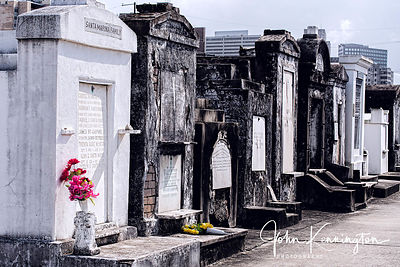St Louis Cemetery Flowers, New Orleans, Louisiana