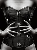 Woman corset close-up