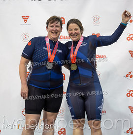 Master Women Sprint Podium. 2020 Ontario Track Championships, March 7, 2020