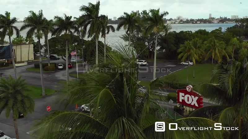 Aerial Video of a New Station WSVN 7 Miami Dade Florida
