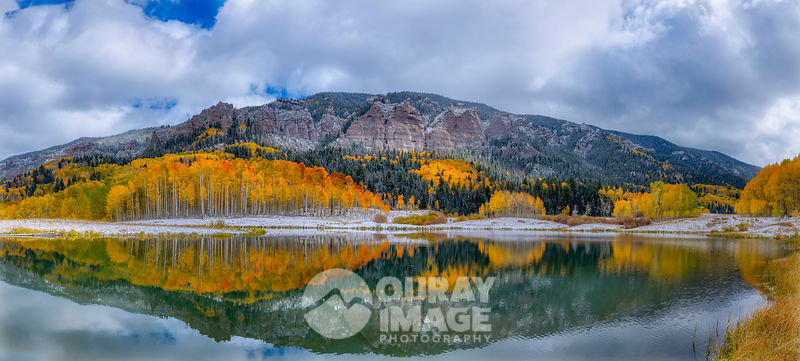 Fall lake in the Cimarron - Large print option