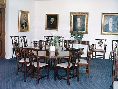 1991 - Interior of the  U.S. embassy and chancery complex in London, England - dining area