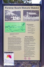 Interpretive Sign for Faraway Ranch in Chiricahua National Monument