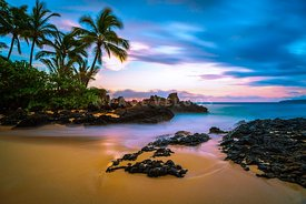 Maui Hawaii Makena Secret Cove Wedding Beach Photo