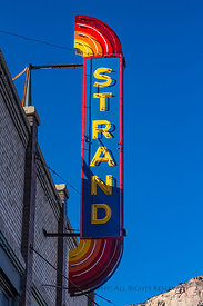 Strand Theatre Sign in Helper, Utah