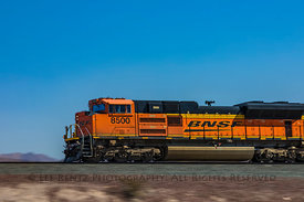 BNSF Freight Train near Route 66 in  California