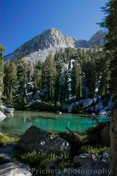 Aqua-green pond (unnamed), high Sierra
