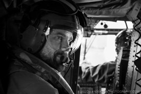 The helicopter loadmaster, Chief Petty Officer Zach Taylor...HMNZS Canterbury transports Department of Conservation, NIWA, an...