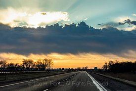 Clouds over I 94 and the Minnesota Prairie
