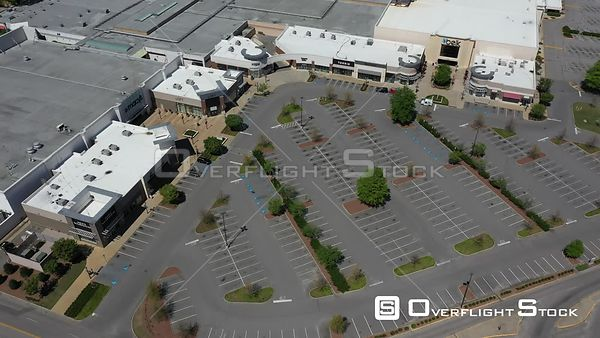 Drone Video Closed Mall During COVID-19 Pandemic Fayetteville North Carolina