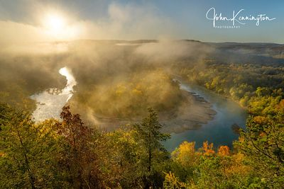 Sunrise at Red Bluff Overlook, Buffalo River, Arkansas