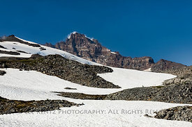 Snow on High Ridge in Mount Rainier National Park