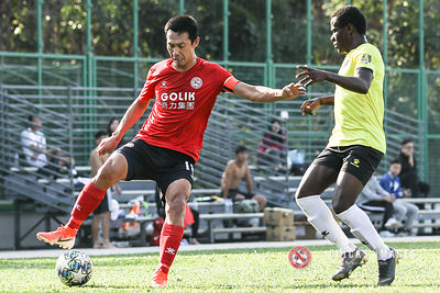 Hong Kong Football League 1st Division	- GOLIK NORTH DISTRICT VS WONG TAI SIN on December 1, 2019. Photo by Ming So/Golik Nor...