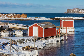 Fishing Stages in Durrell, Newfoundland